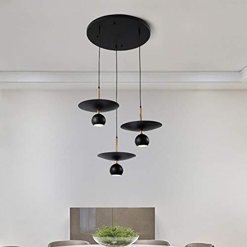 Nordic wind drie kroonluchters woonkamer lamp moderne creatieve verlichting binnenverlichting kroonluchters / 3 ruiten_warm licht