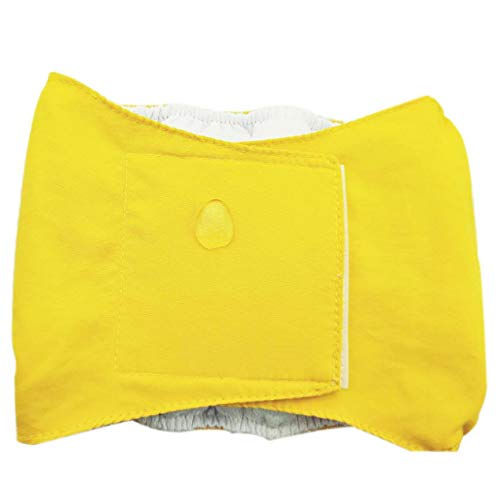 DBSUFV Pañales de algodón Reutilizables para Perros Masculinos, pañales Lavables Impermeables y Transpirables, pantalón para Perros y Mascotas, Elegante pañal Sanitario