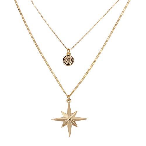 Betsey Johnson Celestial Star Layered Pendant Necklace
