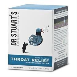 Dr Stuarts Throat Relief Herbal Tea 15 Tea Bags - DRS-4042