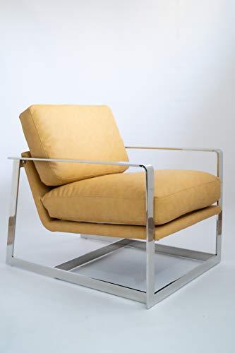 VOLERO' Shopping Online, Poltrona Design rétro, Modello Andromaca, Rivestimento Seduta Ecopelle in Microfibra, Telaio in Acciaio.