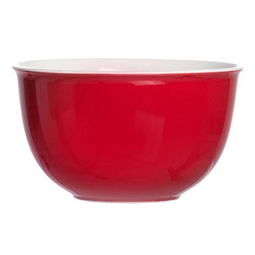 Ritzenhoff & Breker Doppio Müslischale, Schale, Schälchen, Geschirr, Porzellan, Rot, 520 ml, 515572