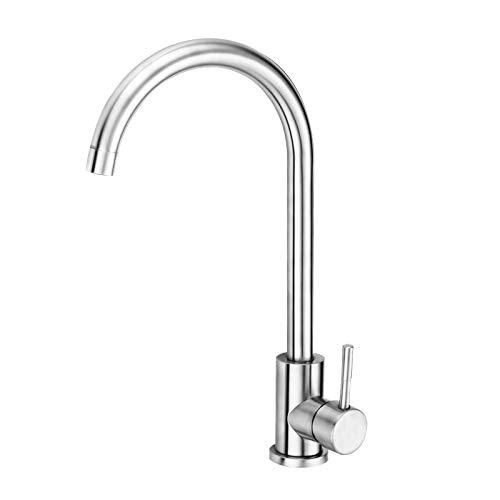 Wasserhahn Küche, Mefine 360° Drehbar Küchenarmatur Kaltwasserhahn Armatur küche, Spültischarmatur Kaltes und Heißes Wasser Vorhanden