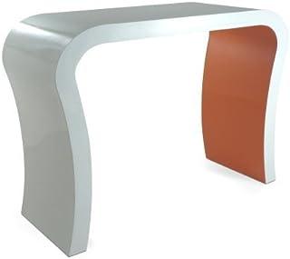 Zespoke Alto Brillo Blanco y Naranja Moderna Consola Pasillo DiseñadorTocador/Aparador