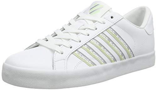 K-Swiss Damen Belmont SO Tape Sneaker, Weiß (White/Slvr/Seafoamgrn 186), 37 EU