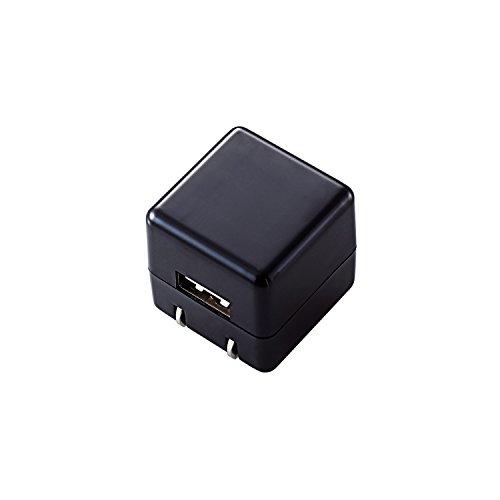 エレコム オーディオ用AC充電器/1A出力 USB1ポート ブラック AVA-ACUAN007BK 1個 ELECOM