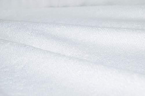 Witte biologische bamboe handdoeken - door de meter Sample Cutting
