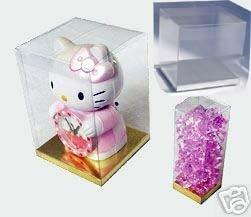 24 PCS 5x5x7 Party Favor Tuck Top Clear PVC Plastic Box W/Silver Card Bottom