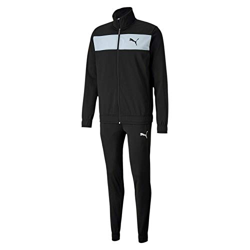 PUMA Herren Trainingsanzug Techstripe Tricot Suit cl, Black, L, 581595