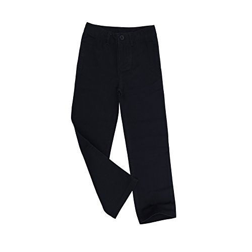 Bienzoe Niño Uniformes Escolares Algodón Cintura Ajustable Pantalon Marina 4