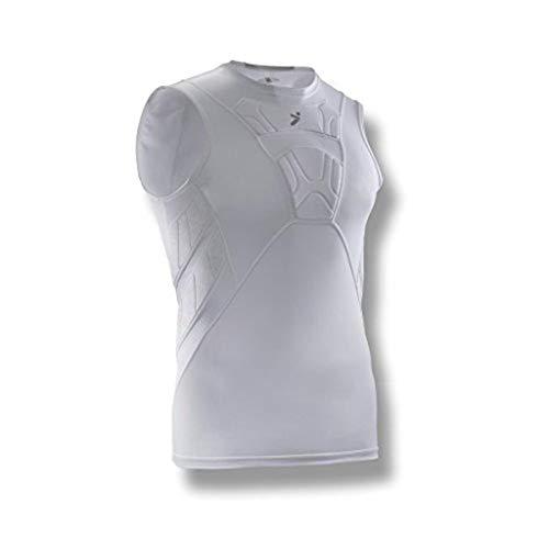 Storelli BodyShield Ärmelloses Unterhemd | Fußballschutz-Basisschicht | Kompaktes Kompressionsoberteil | Gepolsterter Brust- und Rippenschutz