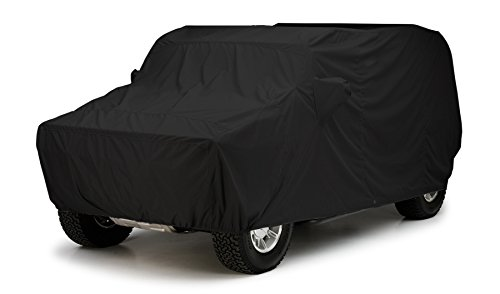 Covercraft Custom Fit Vehicle Cover for Jeep Commander - WeatherShield HP Series Fabric, Black