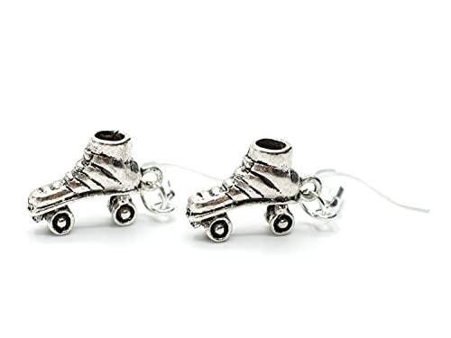 Miniblings Rollschuhe Ohrringe Diskoroller Retro Skates Rollerskates silber mini S - Handmade Modeschmuck I Ohrhänger Ohrschmuck versilbert
