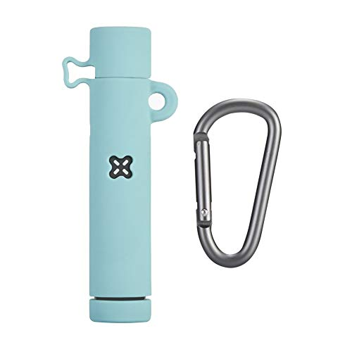 Fironst Case Cover for Pax Era/Era Pro, Upgrade Silicone Protective Case Anti-Drop Anti-Lost Rubber Cover Skin Sleeve Wrap with Metal Carabiner (Ice Sea Blue)