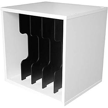 キューブボックスα ECO 仕切りタイプ (縦仕切り) 教科書収納 ファイルボックス ファイルケース ファイルスタンド A4対応 (縦仕切り) (ホワイト)