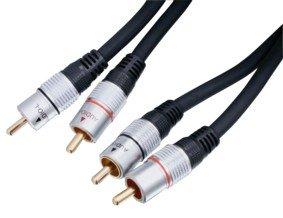 HQ Doppelt geschirmtes Stereo Cinch-Kabel 10 m
