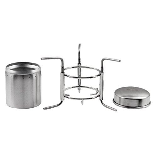 HomeDecTime Estufa de Cocina Portátil para Quemar Alcohol Estufa de Alcohol de Acero Inoxidable Al Aire Libre