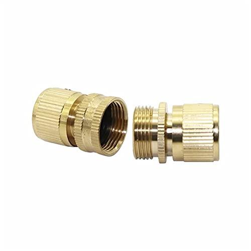 Accesorios a prueba de fugas 3/4'Hilo interno y 3/4' Hilo externo Conectores de cobre rápido Conector Conector Jardín Accesorios de irrigación 1SET (2 PCS) (Color : 3I4')
