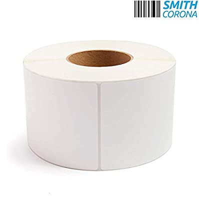 """Smith Corona - 100 Rolls, 4'' x 6'' Direct Thermal Labels, 3'' Core, 100,000 Labels Total, Made in The USA, for 3"""" Core Industrial Printers"""