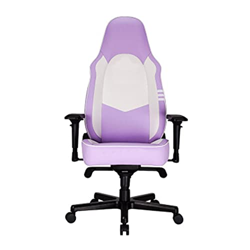 HXJU Silla para juegos de oficina, con respaldo alto, ergonómica, ajustable, para tareas de carreras, giratoria, color lila