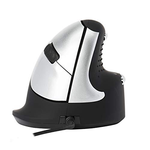 R-Go HE Ergonomische Maus - Premium-Vertikal-Maus - Mittel (165-195mm) – Rechtshändig - Drahtgebundenen - Schwarz