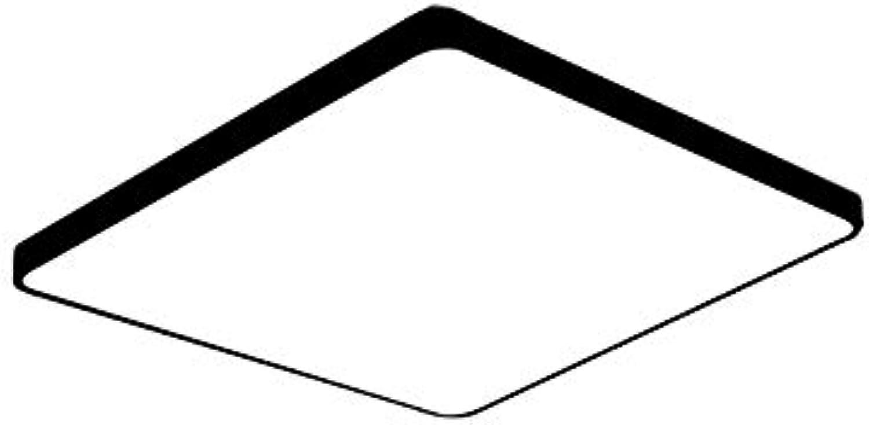 Ultradünne Runde Quadratische Deckenleuchte Moderne Minimalistische Led-Deckenleuchte Für Wohnzimmer B-Schwarz