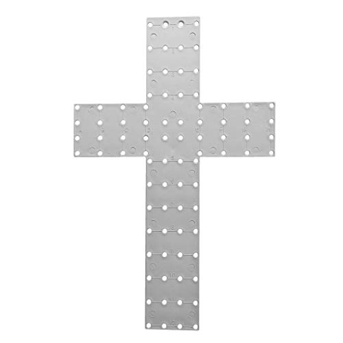 """Unique In The Creek (UITC) Five (5) Pack Cross Wreath Boards - Easy to Use, Plastic, Cross Frame, 20"""" x 13"""""""
