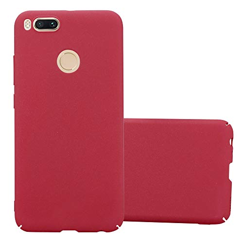 Cadorabo Funda para Xiaomi Mi A1 / 5X en Frosty Rojo – Cubierta Protección de Plástico Duro Super Delgada e Inflexible con Antichoque – Case Cover Carcasa Protectora Ligera