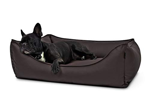 PadsForAll Hundebett, Hundesofa Dreamy Kunstleder in braun, 3 Größen