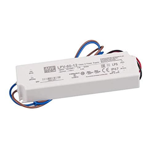Uonlytech LED-Lichtschalter Konstantspannung Wasserdichtes Schaltnetzteil IP67 für LED-Laufwerk LPV-60-12 5A