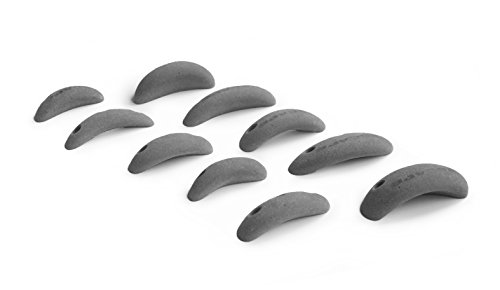 Escape Climbing 10 Screw-On Jugs | Premium Plastic Rock Climbing Holds Designed for Beginners | Ideal Holds for Kids Climbing Wall