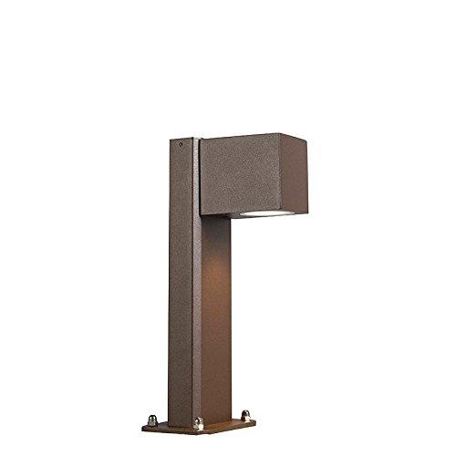 QAZQA Moderne Lampadaire/Lampe de sol/Lampe sur Pied/Luminaire/Lumiere/Éclairage industriel brun rouille 30 cm IP44 - Baleno Aluminium/verre Brun rouille Oblongue GU10 Max. 1 x 11 Watt/Ex