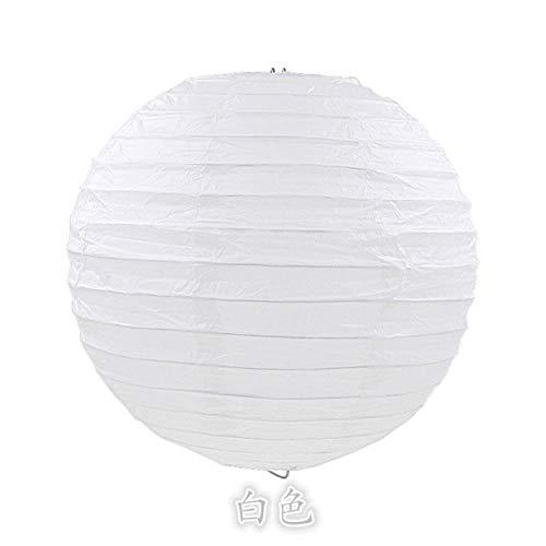 TTYAC 4/6/8/10/12/14/16 Zoll Runde chinesische Papierlaternen Geburtstag Hochzeit Dekor Geschenk Handwerk DIY Lampion hängenden Ball Party Supplies, weiß, 4 Zoll 10cm