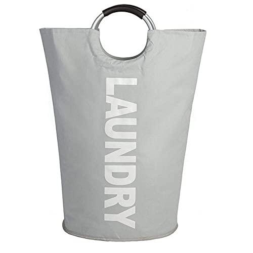 Cesta de lavandería grande 600 D plegable de tela para la colada, bolsa de ropa plegable, cesta de lavandería plegable con bolsillo para monedas para el baño del hogar (72 x 38 cm)