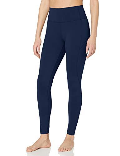 Amazon Brand - Core 10 Women's Nearly Naked Yoga High Waist Full-Length Legging-28', Navy, Medium