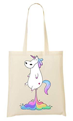 Unicorn Fart Artwork Tragetasche Einkaufstasche