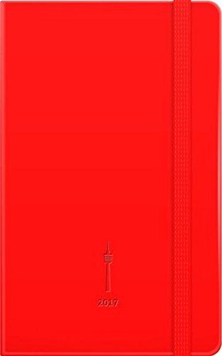 365 Tage Stuttgart 2017, rot: Jahresplaner mit Einstecktasche und Leseband