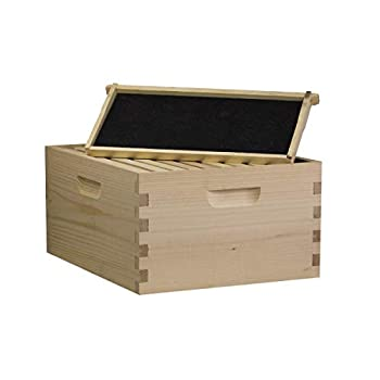 Busy Bees  N  More Amish Made Langstroth Bee 10 Frame Deep/Brood Box w/Frames and Foundations