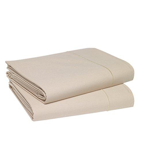 Blanc des Vosges Uni 57 Fils Drap - Coton - Ivoire - 280x320 cm