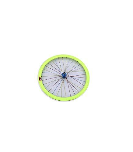 Riscko 004l Rueda Trasera Bicicleta Personalizada Fixie Talla L Amarillo Fluor