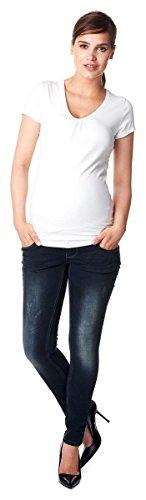 Noppies Damen Umstandsjeans Skinny Jeans Britt Jeanshose/Set Gratis Baby-Tuch Farbe: Dark Stone Wash (C296) Größe: 30