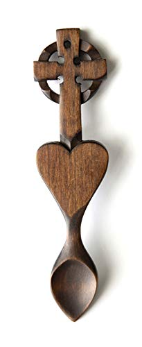 Celtic Cross Love Spoon - Free Engraving of Names & Date