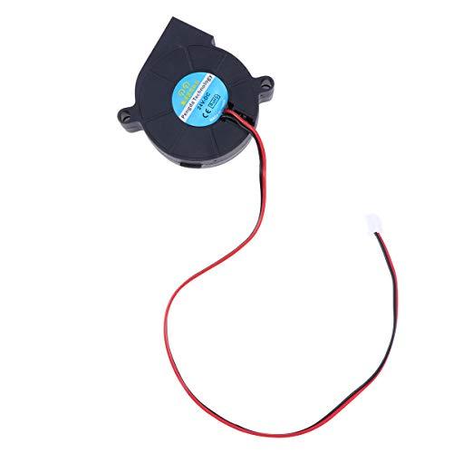 UEETEK Impresora 3D Ventilador Refrigeración 24V DC para el Disipadores de Calor Enfriamiento Negro