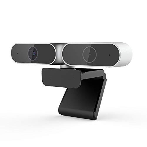 Cfilet FHD 1080p Webcam Enfoque Automático, 360 ° Rotación Completa Libre En El Disco del Ordenador Cámara Omnidireccional Micrófono, USB Plug and Play Cámara Web, For Sistemas Convencionales