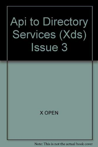 Api to Directory Services (Xds) Issue 3