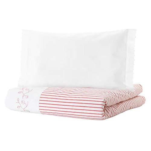 GULSPARV IKEA Baby Bettwäsche in rot; gestreift; 2-TLG; 100% Baumwolle; (110x125/35x55cm)