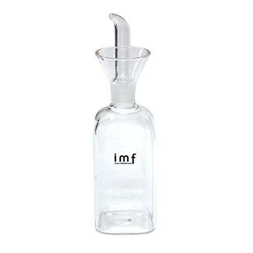 imf Aceitera Vinagrera Cuadrada con Dosificador Antigoteo, Glass, Multicolor, 250 cl