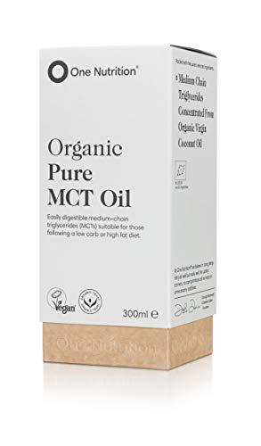 One Nutrition Organische MCT Olie - 100% Kokosolie - Caprylzuur C8 en Capric Acid C10 - Geen Palmolie of Laurinezuur - Perfect voor Keto - Ketonensupplement - 300ml