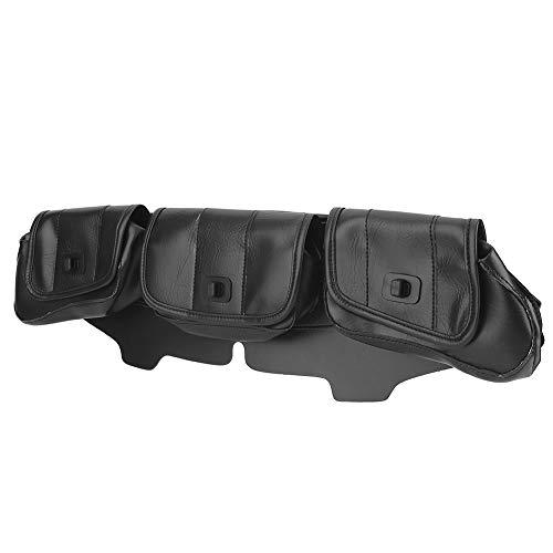 Bolsa de sillín para parabrisas portátil para triciclo(black)