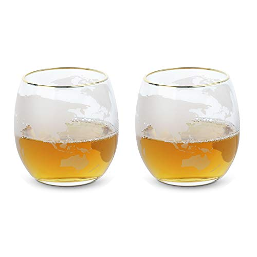 Weingläser Ohne Stiel Set , Richaa 2 Stück Stemless Weinglas Kristallgläser für Liquor Rum Scotch Bourbon Vodka (16 oz / 450 ml)